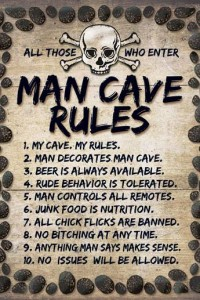 Man cave rules poster kopen