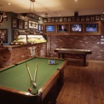 Man cave met pooltafel