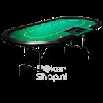 Poker tafel pokerdealer tray groen